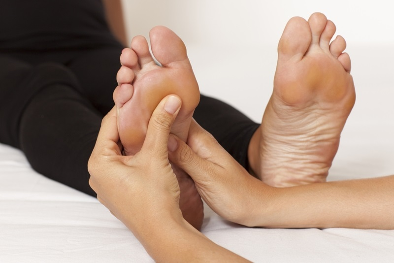 Plantar massage, reflexology is a therapy for the whole body
